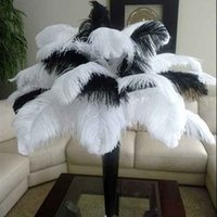 Wholesale White Ostrich Feathers Large Size quot Ostrich Plumage Dyed Plume Many Size Selection Wedding Party Feather Centerpieces Table Centerpiece