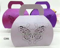 basket case gift baskets - 32 Colors Wedding Favor Boxes with Handle Laser Cut Pearl Paper Candy Gift Basket Hollow Out Butterfly Flower Heart Chocolate Case WE408