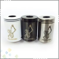 mechanical mod - Newest Freakshow RDA Rebuildable Dripping Atomizer SS Black White for Mechanical Mod mm diameter Clone Freakshow Atomizer