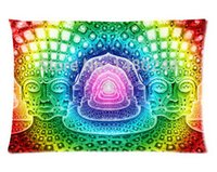 Wholesale On Sale Beding Sleep Well Pillowcase Comfortable Colorful Alex Grey Art Novelty Zippered Pillow Cases x30 inch