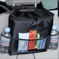 auto insulation material - LJJG191 New Convenient Auto Car Back Seat Organizer Multifunctional Seat Hnaging Insulation Material Storage Bags