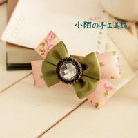 Pequeños accesorios hechos a mano del clip de la tapa de la flor de la cabeza de la horquilla de Corea de la horquilla del arco de la joyería del pelo de la calle pequeños Envío libre
