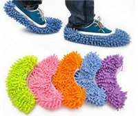 Wholesale Multifunction Mop Shoe Cover Dust Mop Slipper House Cleaner Lazy Floor Dusting Cleaning Slipper Housekeeper Foot Shoe