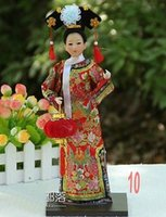 antique oriental figurines - Oriental Broider Doll Old style figurine doll statue qing dynasty Silk person