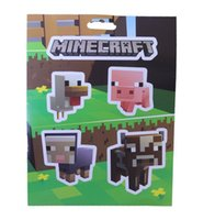 Wholesale High Quality Minecraft zombie Sticker Minecraft Creeper Steve and all others character sticker Set of In Stock