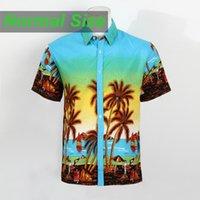 hawaiian shirts - Camisa Masculina Summer Style Mens Hawaiian Shirt with Short Sleeve Printed Beach Party Casual Cotton Shirts Plus Size