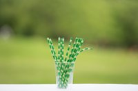 Wholesale Fashion Bamboo decorated paper straws for party barware lovely drinking straws disposable but Environmentally friendly straws