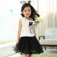 perfume set - Children outfits sets t shirt yarn skirts kids clothes set korean style fashion perfume bottle pattern girls clothing sets set ab1490
