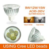 Wholesale 20pcs W W Dimmable w LED spotlight GU10 MR16 E27 GU5 LED bulbs spotlight led lights price oexde