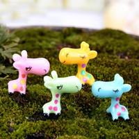 Wholesale Plant Pot Fairy Dollhouse Decor Cute Garden Ornament Miniature Giraffe Figurine Craft