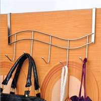 best clothes hangers - Hot Salw Best seller PC Over Door Hook Chrome Hanger Organizer With Five Clothes Hooks