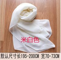 Wholesale Four Seasons General Solid long customized bridal dress bridesmaid sisters wedding shawl scarf chiffon scarf