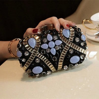 beaded bag handles - Fashion New Beaded Bridal Hand Bags Cheap Top Handle Bags With Chain For Wedding Party Custom Made EN10091