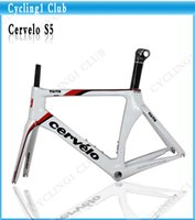 cervelo - White Red S5 Cervelo S5 Bike Frame cervelo Carbon Bike Frame bicycle Bicycle framest With Bottom Bracket full carbon Fiber Road Bicycle