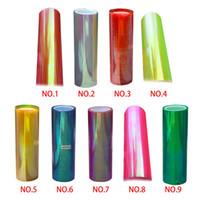 Wholesale 2015 New arrival cm Shiny Chameleon headlight Taillight Translucent film color variable retail
