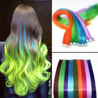 Wholesale Fashion Clip In Hair Extensions Straight Hair Colors Cosplay Wigs Synthetic Hair Highlight Hairpiece