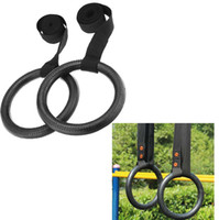 Wholesale 2PCS Portable Gym Gymnastics Rings for Muscle Exercise Crossfit Physical Shoulder Strength Training Body Building Equipment order lt no trac
