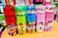 Wholesale Sets Fashion Children Colored Pencil Cartoon Colors Pencil Stationery Set A2643