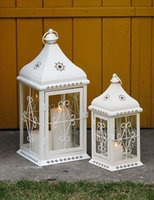 Wholesale Ou wrought iron storm lantern lantern wind candle wedding road led stage marriage home furnishing articles