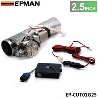 Wholesale EPMAN Universal quot Exhaust Pipe Electric I Pipe Exhaust Electrical Cutout with Remote Control Valve EP CUT01G25