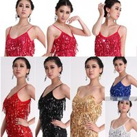 ballroom dances types - New Sexy Lady Latin Strap Sequins Dress Tassel Rumba Square Dance Ballroom Dress