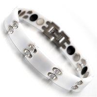 tungsten bracelet - Mens Tungsten Bracelet Crystal White quot kb1491