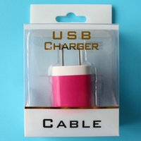 Wholesale 200pcs Plastic PVC Retail Package Packaging Box For USB Power Adapter Charger DHL Shipping