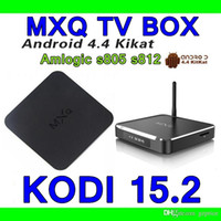 Wholesale USA Stock MXQ TV BOX Amlogic S805 metal MXQ M10 S812 Quad Core Android Kitkat K GB8GB XBMC WIFI Airplay Miracast D P