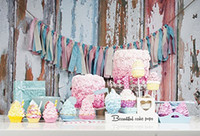 Wholesale 5ft ft cm cm Baby Cameras Photo Photography Backdrop Material Colorful Cute Cakes Birthday Photo Studio Backgrounds