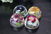 preserved flower - Luxury Creative Arts Romantic Lovers Gifts Nature Bubble Preserved Flower In Crystal Glass Paperweight For Bars Weddings Favors