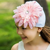 Wholesale Cheap Pink Flowers Beaded Rhinestone Flowers Girls Hat Top Sale Online Kids Formal Wear Hair Pieces Best Gift For Girls Birthday Pageant