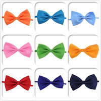 Wholesale 1pcs hot solid bow tie mens butterfly cravat bowtie male solid color marriage bow ties for men High quality
