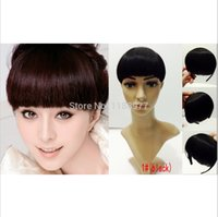 Wholesale Cosplay style Women s Clip on Bangs Fringe Hair band Headband Hairpiece colors bangs