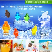 Wholesale newest Silicone robot Shaped cake Ice Cube Trays Carving Mold Mould Maker For Party Drinksr Pan Tray Party Drink