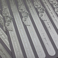 Wholesale SS001 Gorgeous Metallic Silver Crown with Feather Foil Seal Stickers for Wedding Decoration Card Making Scrapbooking