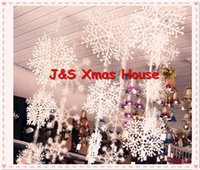 christmas tree - Merry Christmas white plastic snowflake string strip of cm for Christmas tree hanging decoration bag