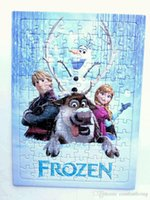 Wholesale DVD Movies Frozen Puzzle Cartoon DVDs Frozen Puzzles Kinds CPT132 DHL EMS