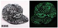 Wholesale LED Popular luminous flat hat hip hop fluorescence cap baseball cap Snapbacks Snapback Baseball Hats Caps for men women Fluorescence