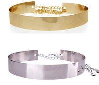 ladies belts - Fashion chain Metal waist belts for women gold silver lady dress shiny design high quality alloy cummerbund wristband belt sizes