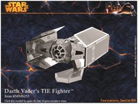 Wholesale STAR WARS Dath Vader s TIE Fighter Building Kits D Scale Models DIY Metallic Nano Puzzle Toys for adult kids PC PRICE NO
