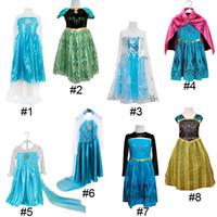 girls dress - Frozen Princess Dresses Blue Elsa Girl Dresses White Lace Wape Girls New Fashion Frozen Dresses kids clothes