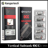Wholesale Authentic Kanger Vertical Subtank OCC Coil Upgraded ohm ohm fit Kangertech Subtank Mini Nano Plus