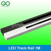 led track lighting - 1m LED Track Light Rail Track Lighting Fixture Rails for Track Lighting Universal Rails Track Lamp Rail Aluminum Materials