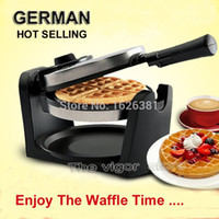 Wholesale DHL FedEX Geman Non stick Automatic Household Home Electric Rotary Egg Waffle Maker Pancake Machine Cooking Tools