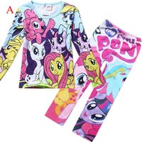 Cheap Kids Girl My Little Pony Clothing Set Cartoon Pony Spring Clothes Set for Baby Girls Wholesale Gilrs Casual Tracksuit