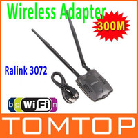 Wholesale 300M USB WiFi Wireless Network Card LAN Adapter n g b w Antenna MIMO CCA
