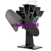 pellet stove - Eco friendly Heat Powered Fan for Stove Wood Gas Pellet Stoves Kitchen Cooking Fan Air Treatment Aluminum Without electricity