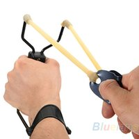 Wholesale Folding Wrist Sling Shot Slingshots High Velocity Hunt Brace Bow Outdoor Hunting Q4