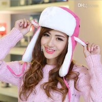 Wholesale best selling winter fashion imitation rabbit hair thickened ear cap warm Bomber Hats