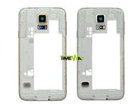 Wholesale Original Middle Frame Plate Bezel Cover Housing Case Camera Cover For Samsung Galaxy S5 SV I9600 G900 Replacement